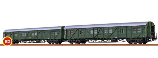 BRAWA 46252 Gepäckwagen-Set 2-tlg. MPw4ie-50 + MPw4yge-57 DB | Spur H0