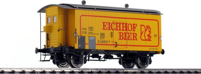 BRAWA 47869 Güterwagen K2 | DC | SBB | Eichhof Bier | Spur H0