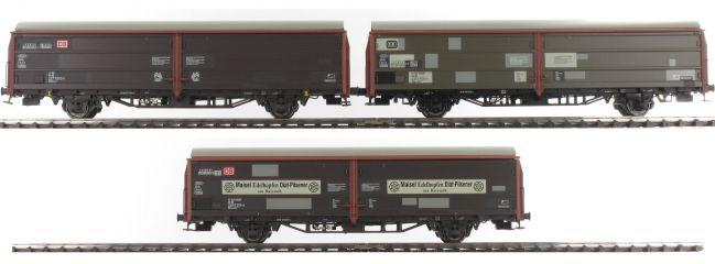 BRAWA 48952 3-teiliges Set Schiebewandwagen Hbis 297/299 | DB | Spur H0