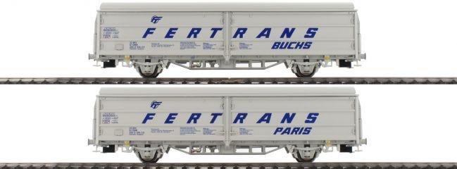 BRAWA 48971 2-teiliges Set Schiebewandwagen Hbis FERTRANS | ÖBB | DC | Spur H0