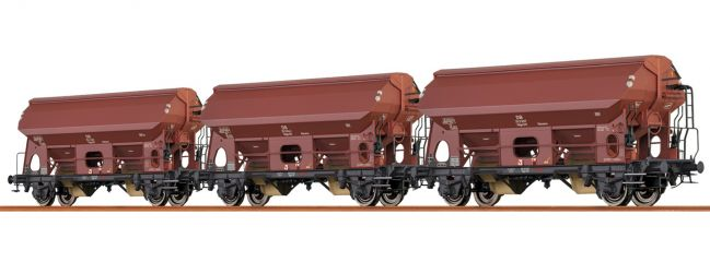 BRAWA 49509 Güterwagen Set 3-tlg Udgs 69 Ktmmvs DB | DC | Spur H0
