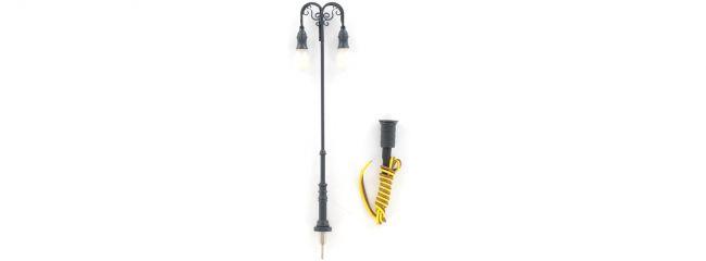 BRAWA 84036 doppelte Platzleuchte | Stecksockel mit LED | Spur H0