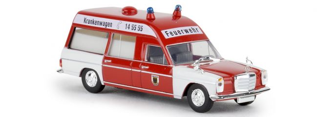 BREKINA 13810 Mercedes-Benz /8 W115 KTW Feuerwehr Dortmund Blaulichtmodell 1:87