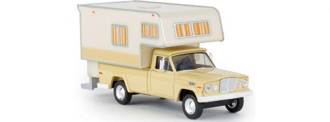 ausverkauft | BREKINA 19833 Jeep Gladiator Camper  elfenbein Automodell 1:87