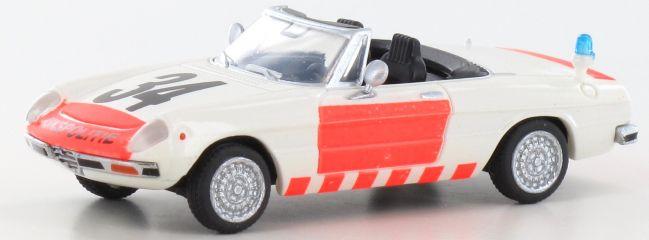 BREKINA 29604 Alfa Romeo Spider 2000 Rijkspolitie   Blaulichtmodell 1:87