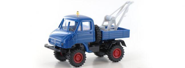 BREKINA 39116 Unimog 411 Abschleppwagen blau | LKW-Modell 1:87
