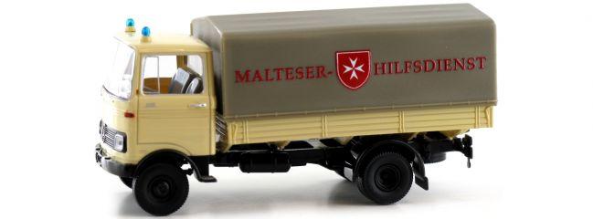 BREKINA 48576 Mercedes Benz LP 608 PP Malteser Hilfsdienst | LKW-Modell 1:87