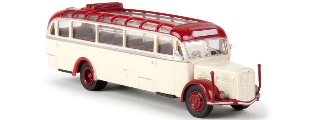BREKINA 58076 Saurer BT 4500 offen hellelfenbein/rot | Starline | Modell-Bus 1:87