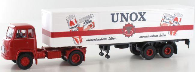 BREKINA 85170 Scania LB 76 Unox Koffer Szg | LKW-Modell 1:87