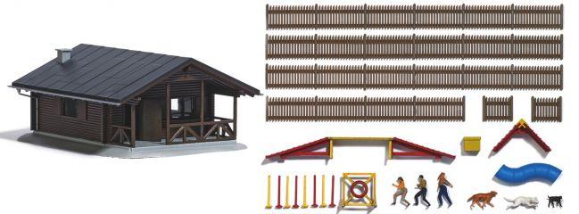 BUSCH 1040 Hundesportplatz Agility mit Zubehör Bausatz 1:87