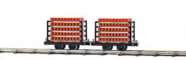BUSCH 12203 Zwei Ziegeltransportwagen, Spur H0f