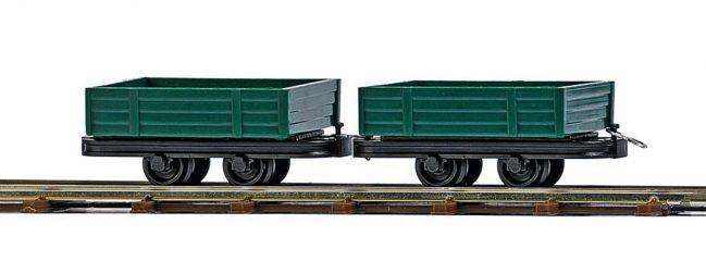 BUSCH 12206 Zwei Niederbordwagen| Feldbahn Spur H0f