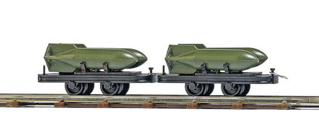 BUSCH 12209 Zwei Wagen mit Bombenladung, Spur H0f