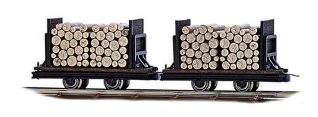 BUSCH 12211 Wagen mit Rundholz 2 Stück Spur H0f