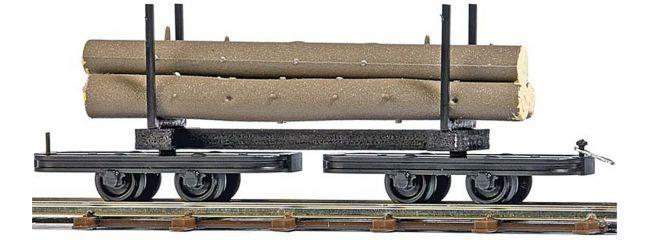 BUSCH 12222 Drehgestell-Rungenwagen mit Baumstämmen Spur H0f