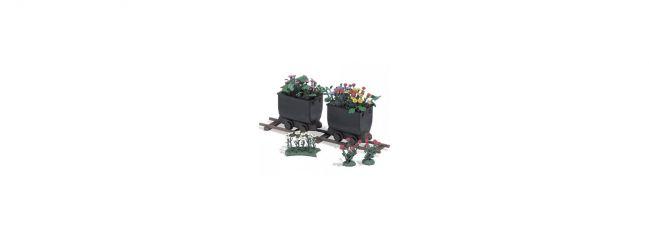 BUSCH 1253 2 Loren mit Blumen Bausatz Spur H0