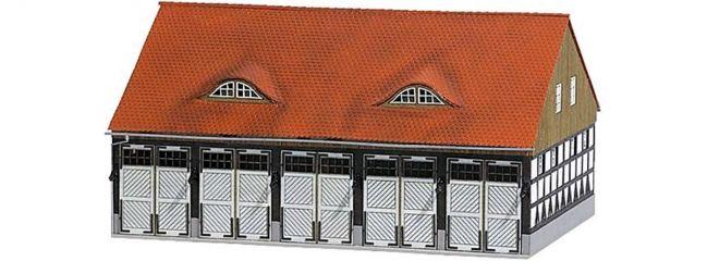 BUSCH 1451 Fahrzeughalle FW Schwenningen | Gebäude Bausatz Spur H0