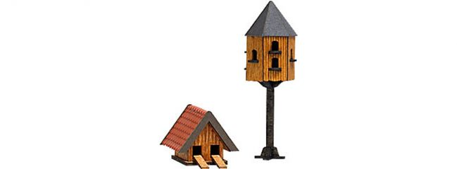 BUSCH 1521 Tauben- und Entenhaus  Bausatz Spur H0