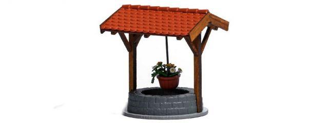 BUSCH 1524 Brunnen mit Blumenampel Bausatz Spur H0