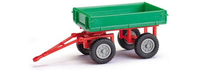 BUSCH 210009506 Anhänger für E-Karre grün 2achs Automodell 1:87