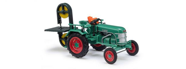 BUSCH 40069 Traktor Kramer KL11 mit Bandsägenanbau Landwirtschaftsmodell 1:87