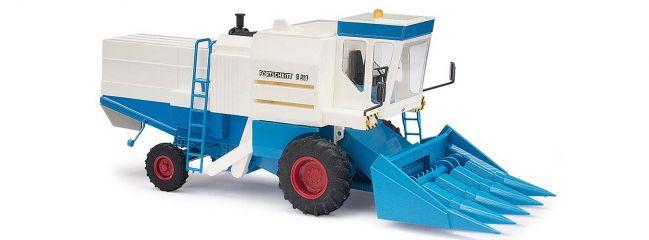 BUSCH 40174 Fortschritt E514 Mähdrescher mit Maispflücker Landwirtschaftsmodell 1:87