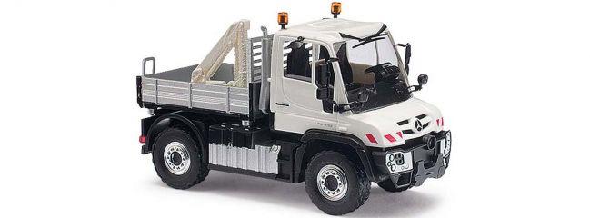 BUSCH 50910 Unimog U430 mit Gitter/Kran | Modellauto 1:87