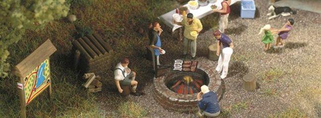 BUSCH 5407 Lagerfeuer und Grill | Fertigmodell Spur H0