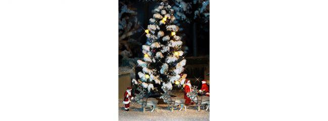 BUSCH 5411 Beleuchteter Weihnachtsbaum | verschneit |  Spur H0