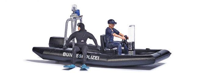 BUSCH 5485 See mit fahrendem Polizeiboot Bausatz 1:87