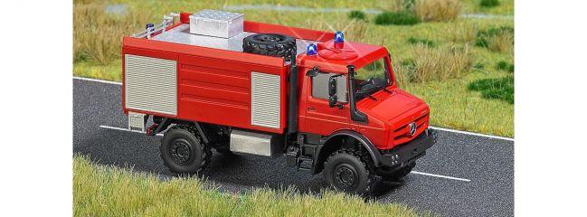 ausverkauft | BUSCH 5605 Unimog U5023 Feuerwehr mit Blinklichtern Blaulichtmodell 1:87