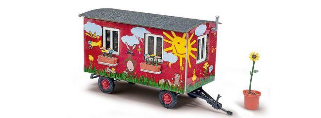 BUSCH 59933 Anhänger Gartenwagen Fertigmodell 1:87