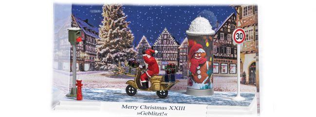 BUSCH 7638 Kleindiorama Merry Christmas XXIII geblitzt Fertigmodell 1:87