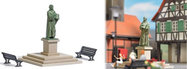 BUSCH 7730 MiniWelt Lutherdenkmal Fertigmodell Spur H0