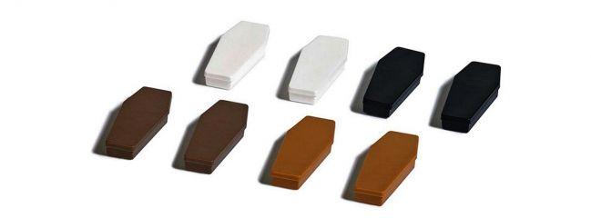 BUSCH 7798 Mini-Set Särge 8 Stück Fertigmodelle Spur H0
