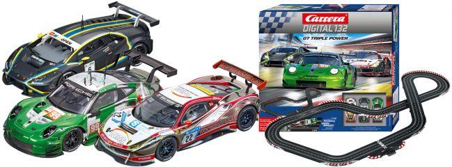 Carrera 30007 Digital 132 GT Triple Power | Autorennbahn Grundpackung 1:32