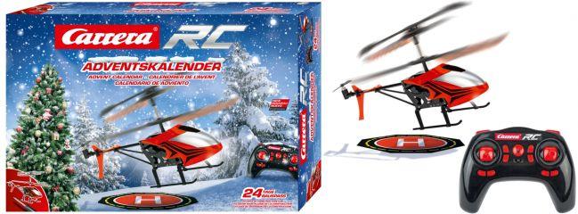 Carrera 501042 RC Adventskalender | mit 2,4 GHz RC Helicopter | 1:18