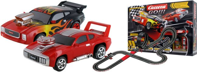 Carrera 62514 Go!!! Hot Road | Autorennbahn Grundpackung 1:43
