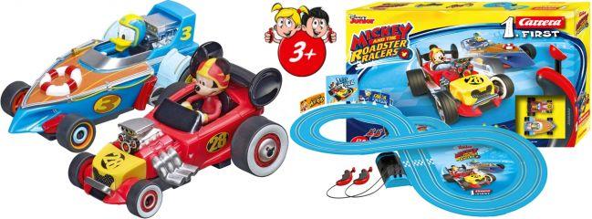 Carrera 63012 FIRST Mickey and the Roadster Racers | Autorennbahn | ab 3 Jahren