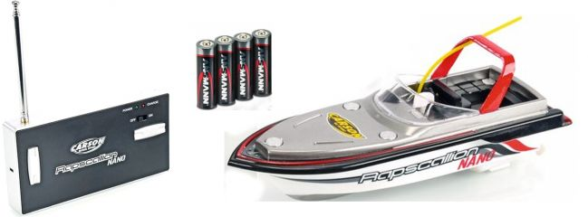 CARSON 500108016 RC-Boot Nano Rapscallion RTR   RC Schiff Spielzeug