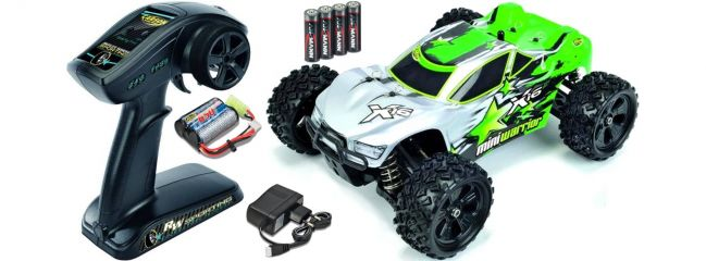 ausverkauft | CARSON 500404065 X16 Mini Warrior Truggy Brushed 2.4GHz RTR RC Auto 1:16