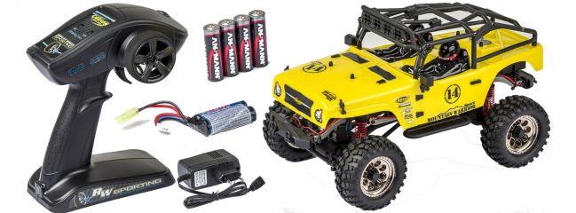 CARSON 500404069 Mountain Warrior Sport gelb 2.4GHz | RC Auto Komplett-RTR 1:12