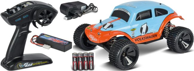 CARSON 500404086 Beetle Warrior 2WD 2.4GHz | RC Auto Komplett-RTR 1:10