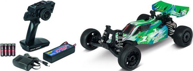 ausverkauft | CARSON 500404157 X10 Race Rebel 2WD 2.4GHz | RC Auto Komplett-RTR 1:10