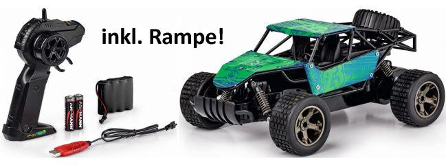 CARSON 500404189 Metal Racer mit Rampe | 2.4GHz | RC Auto Komplett-RTR 1:18