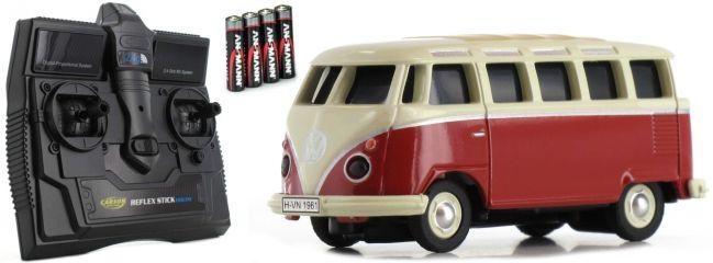 CARSON 500504119 VW T1 Bus Samba 2.4GHz | RC Auto 1:87 Spur H0