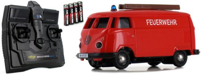 CARSON 500504120 VW T1 Bus Kastenwagen Feuerwehr 2.4GHz | RC Auto 1:87 Spur H0