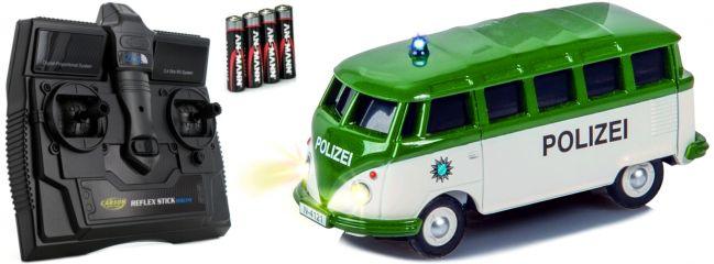 CARSON 500504121 VW T1 Bus Kastenwagen Polizei 2.4GHz | RC Auto 1:87 Spur H0