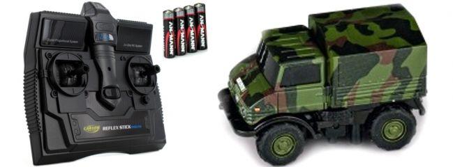 CARSON 500504127 MB Unimog U406 Bundeswehr | 2.4GHz | RC Auto 1:87 Spur H0