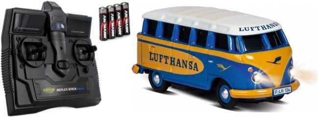 CARSON 500504134 VW T1 Bus Lufthansa | 2.4GHz | RC Auto 1:87 Spur H0